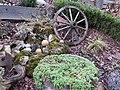 2018-01-12 (110) Old Cartwheel as garden decoration in Haltgraben, Frankenfels.jpg