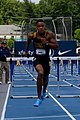 2018 USATF Outdoor National Championships SPC Marcus Maxey- first round of the men's 110m hurdles (28107471937).jpg