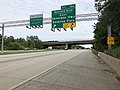 2019-05-21 17 25 29 View south along Interstate 97 (Robert Crain Highway) at Exit 10A (Benfield Boulevard EAST, Veterans Highway, Severna Park) on the edge of Gambrills and Severna Park in Anne Arundel County, Maryland.jpg