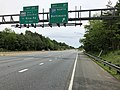 2019-05-22 12 19 32 View east along Interstate 595 and U.S. Route 50 and north along U.S. Route 301 (John Hanson Highway) at Exit 21 (Interstate 97 NORTH, Baltimore) in Parole, Anne Arundel County, Maryland.jpg