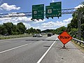 2019-06-14 12 57 53 View east along the Inner Loop of the Baltimore Beltway (Interstate 695) at Exit 32A (SOUTH U.S. Route 1-Belair Road, Overlea) in Overlea, Baltimore County, Maryland.jpg