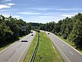 2020-07-30 10 05 44 View east along Maryland State Route 43 (White Marsh Boulevard) from the overpass for U.S. Route 1 (Belair Road) in Overlea, Baltimore County, Maryland.jpg