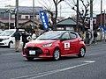 2020 Hakone Ekiden Chairman Car Yaris Hybrid E-Four (Red).jpg