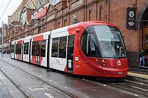 Light rail in Sydney - Urbos 3 in Transport for NSW livery