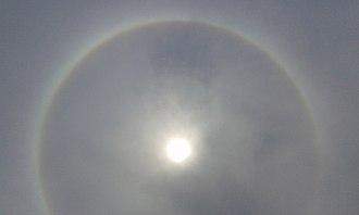 22° halo - Image: 22° circular solar halo