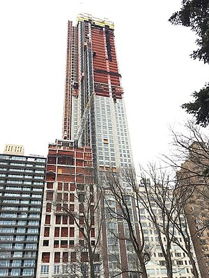 220 Central Park South - The building under construction in January 2017