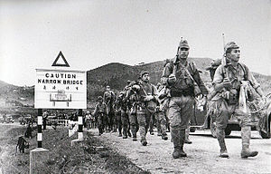 38th Division (Imperial Japanese Army) - Soldiers of the 228th regiment of 38th division entering Hong Kong, December 1941