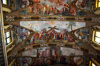 Giovanni Battista Carlone - Giovanni Battista Carlone, Stories of the Holy Cross, fresco on the ceiling of Sant'Antonio Abate  church, Milan.