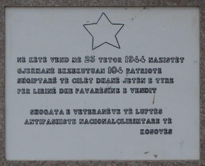 23 October 1944 Memorial, Pristina, Kosovo 01