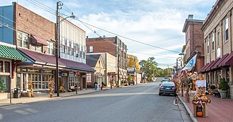 Oakland, Maryland - Second Street in Oakland, part of the Oakland Historic District