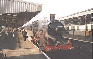 GWR 3700 Class 3440 City of Truro - City of Truro on a special train for Bristol at Plymouth on 3 December 2004