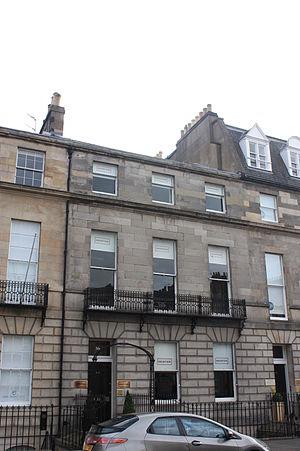 Roger Hale Sheaffe - 36 Melville Street, Edinburgh, Sheaffe's final home