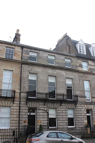 Roger Hale Sheaffe - 36 Melville Street, Edinburgh, Sheaffe's final home