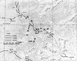 36th Army (Soviet Union) - Advance of the 36th Army between 12 and 18 August 1945