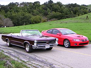 Pontiac GTO - 1965 GTO (left) with 2005 GTO (right)