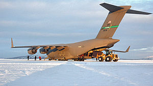 97th Airlift Squadron - C-17 Globemaster III from McChord Air Force Base at McMurdo Station, Antarctica
