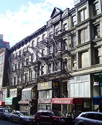 Tin Pan Alley - These buildings and others on West 28th Street between Sixth Avenue and Broadway in Manhattan housed the sheet-music publishers that were the center of American popular music in the early 20th century