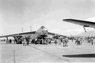 4925th Test Group - Boeing B-47B 51-2047 assigned to the 4925th Test Group shown at a 1955 open house.  The group tested the B-47 in carrying nuclear weapons.