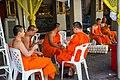 4Y1A0236 Buddhist monks working in Wat Pho temple (32535000650).jpg