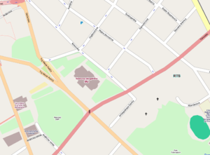 Overthrow of Slobodan Milošević - Map of significant buildings during the protests