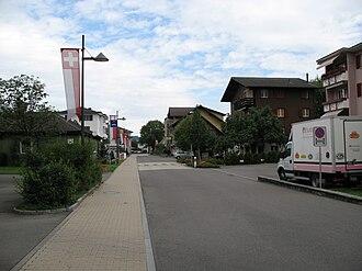Stansstad - Image: 6476 Stansstad Bahnhofstrasse