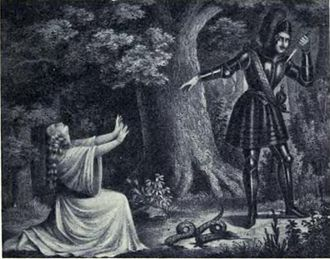 Euryanthe - The forest scene with the serpent, performed at the Royal Theatre in Dresden with Wilhelmine Schröder-Devrient in the title role.
