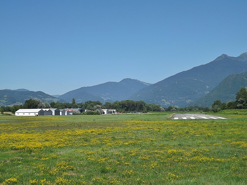 Sight of the Albertville aerodrome, on the French commune of Tournon close to Albertville in Savoie.