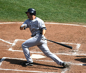 Xavier Nady - Nady with the Yankees in 2008