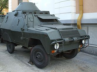 Romanian Revolution - An ABI armoured car used by the USLA in December 1989