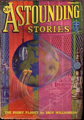 "Jack Williamson - Williamson's ""The Pigmy Planet"" was the cover story in the February 1932 Astounding Stories"