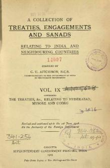 A Collection of Treaties, Engagements and Sanads relating to India and Neighbouring Countries Vol 9.djvu
