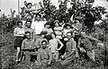 A GROUP OF WORKERS AT THE GROVES OF KFAR SABA. קבוצת קוטפים יהודים, בפרדסי כפר סבא.D682-123.jpg