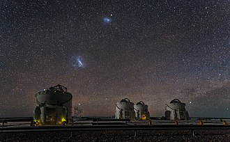 Large Magellanic Cloud -  Small and Large Magellanic Clouds over Paranal Observatory