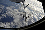 A U.S. Air Force F-16 Fighting Falcon approaches the refueling boom in preparation for aerial refueling during Exercise Razor Talon at Seymour Johnson Air Force Base, N.C., on Feb 130207-F-XC395-072.jpg