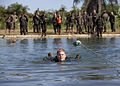 A U.S. Marine performs Guatemalan special forces swimming techniques at the Kaibil Training Center in Poptun, Guatemala, Sept 100907-M-PC721-175.jpg