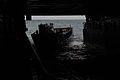 A U.S. Navy landing craft utility enters the well deck of the amphibious transport dock ship USS Mesa Verde (LPD 19) in the Atlantic Ocean Dec. 15, 2013 131215-N-BD629-050.jpg