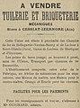 A Vendre - Tuilerie et Briqueterie Mecaniques - Sises a Cessiat-Izernore (Ain) - La Construction Lyonnaise - N°1 - p 12 - 1 Janvier 1897.jpg