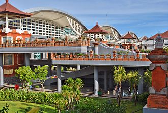 Ngurah Rai International Airport - The new terminal is a modern with Balinese traditional architecture mix and opened in 2014.