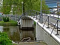 A close-up of the foot- bicycle bridge between Muidergracht and Roeterseiland, Amsterdam; high resolution image by FotoDutch in June 2013.jpg