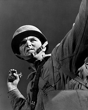Fort Belvoir - An infantryman in training at Fort Belvoir (November 1942).