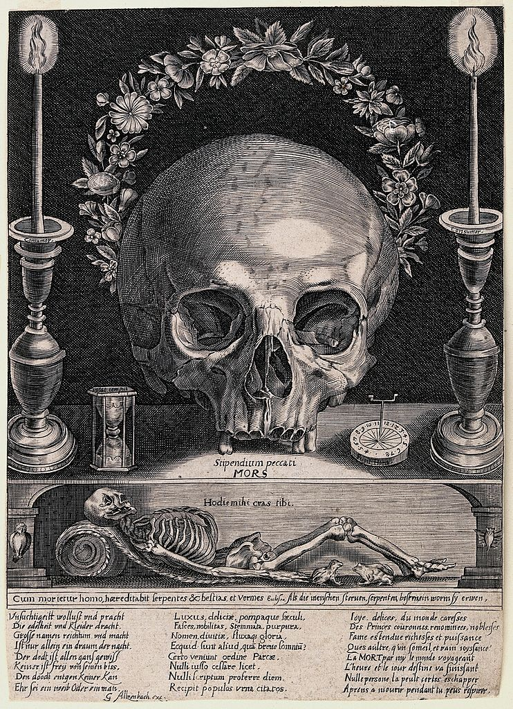 Filea Skull A Skeleton Candles And Other Symbols Of Mortality