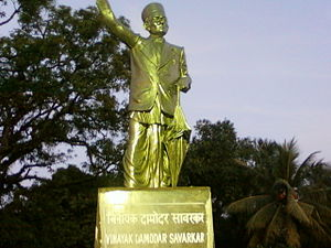 Vinayak Damodar Savarkar - A statue of Vinayak Damodar Savarkar at Cellular Jail.