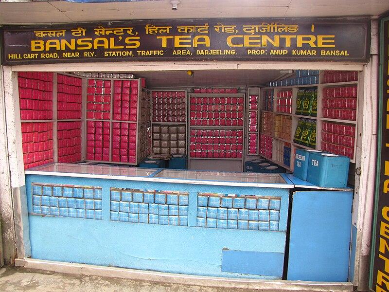 File:A tea shop on Hill Cart Road, Darjeeling.jpg