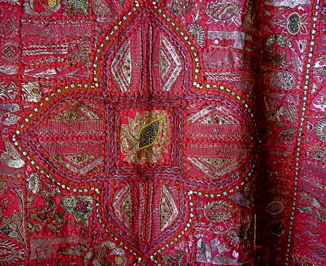 File A Wall Hanging Made Out Of A Wedding Sari Jaisalmer