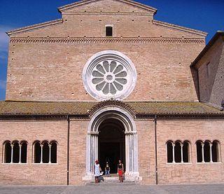 Chiaravalle Abbey, Fiastra church building in Tolentino, Italy
