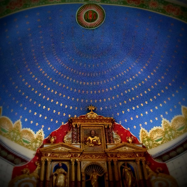 Above the altar