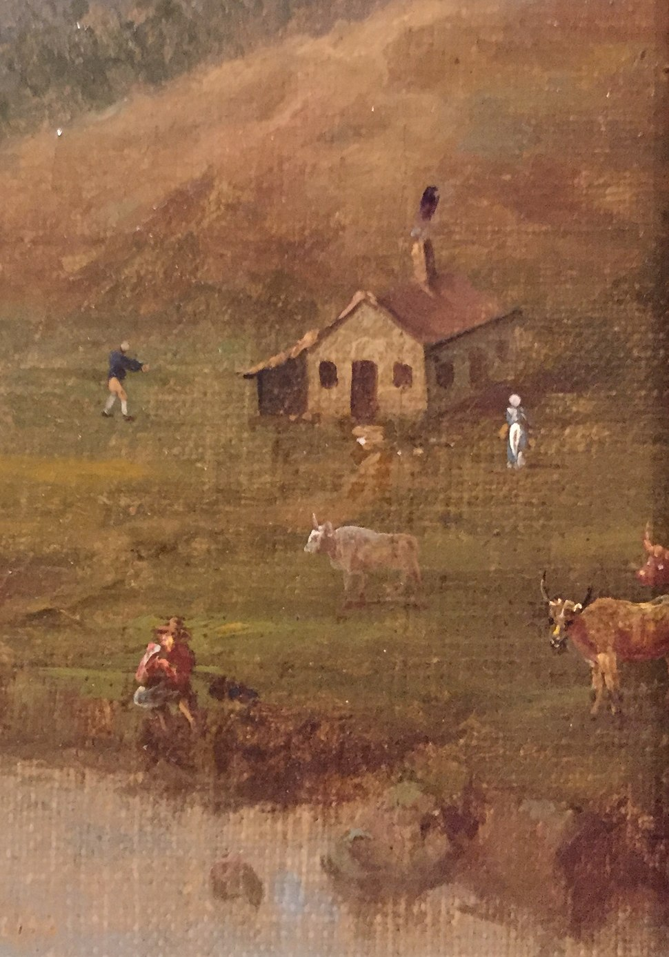Acadians, Inset of painting by Samuel Scott Annapolis Royal, 1751