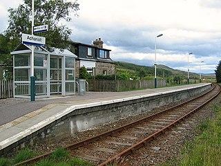 Achanalt railway station Railway station in Highland, Scotland