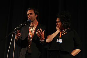 Act of God (film) - Producer Nick de Pencier and director Jennifer Baichwal introducing Act of God at the 44th KVIFF.