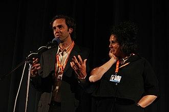 Nicholas de Pencier - Nicholas de Pencier with Jennifer Baichwal at a screening of Act of God
